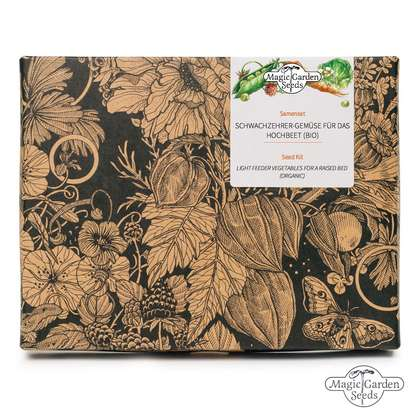 Light Feeder Vegetables For A Raised Bed (Organic) - Seed kit gift box