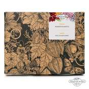 with 6 pretty pink, soft purple & rose-coloured flowers