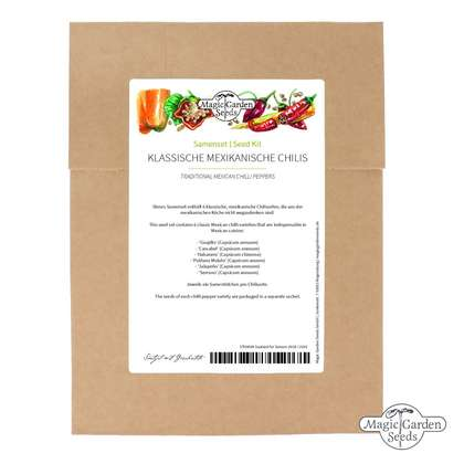 Traditional Mexican Chilli Peppers - seed kit