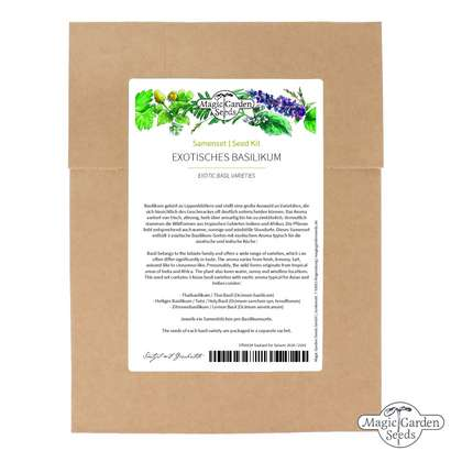 'Exotic basil varieties' seed kit