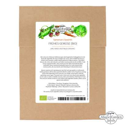Early Birds Vegetables (Organic) - Seed kit
