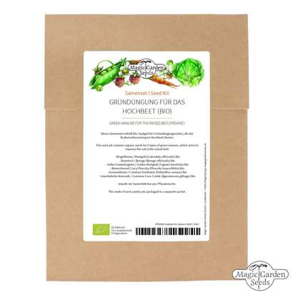 Green Manure For The Raised Bed (Organic) - Seed kit gift box